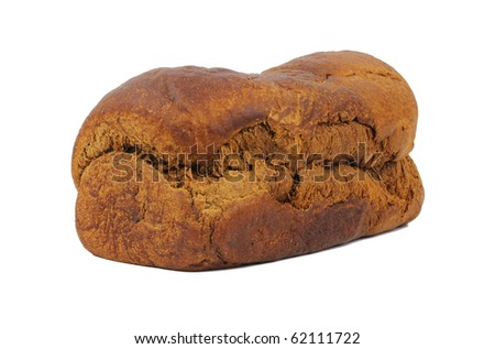 A home made loaf of pumpernickel bread. - stock photo