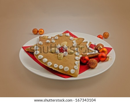 A homemade decorated gingerbread.  - stock photo