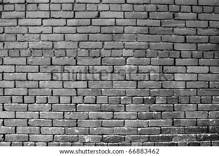 A Horizontal Grey Painted Exterior Brick Wall Part 65