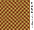 A houndstooth pattern in red and yellow. - stock photo