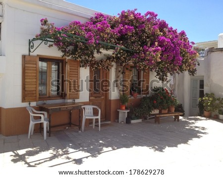 A house in the island of Paros, Greece   - stock photo