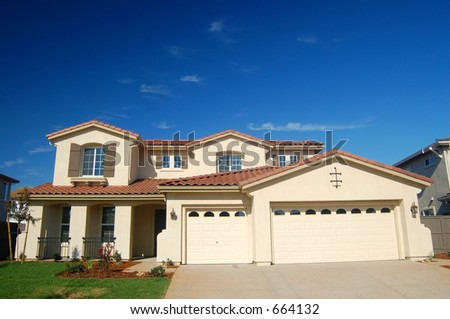 A house in the suburbs - stock photo