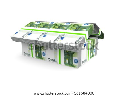 a house made of money - stock photo