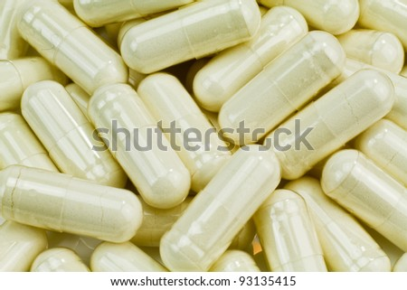 A huge pile of white pills.