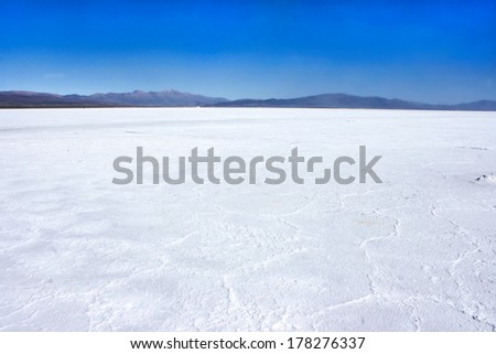A huge salt field in the north of Argentina