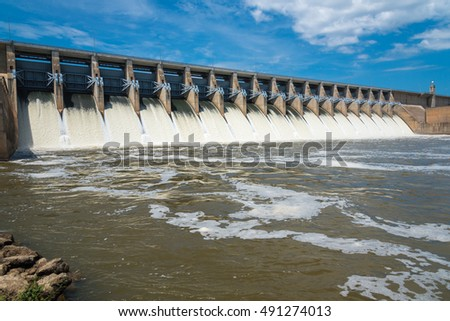 A Hydroelectric dam on a river