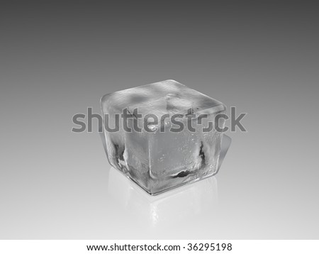 A ice over white background.
