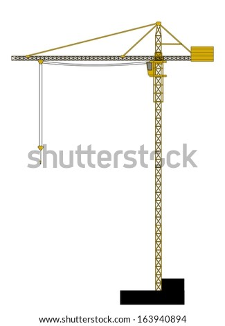 A illustration of high crane - stock photo