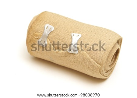A isolated shot of a tension bandage. - stock photo