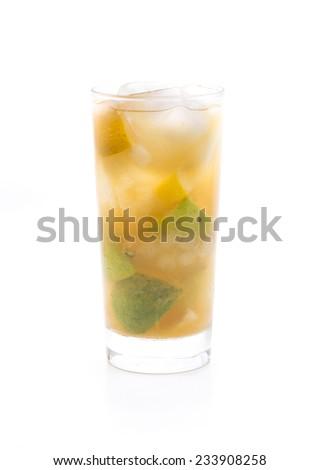 a Japanese cocktail called Shinnosuke, fact-based citrus fruits and sake - stock photo
