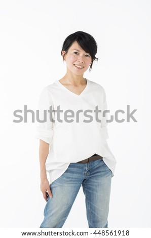 A Japanese woman in her 40s