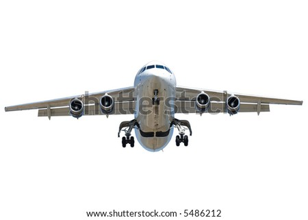 A jet plane on a clean white background - stock photo