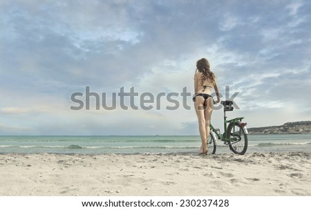 A journey at the seaside  - stock photo
