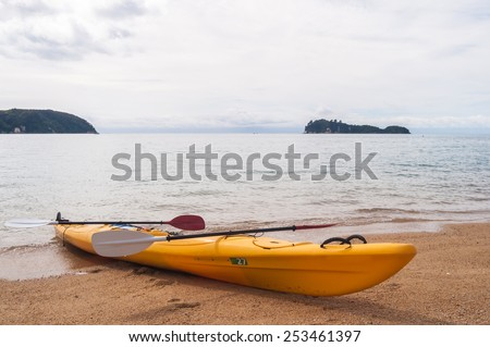 A Kayak on the beach-New Zealand