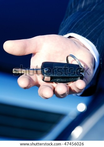 A key to new car - stock photo