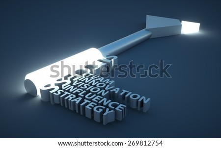 a key with words - stock photo