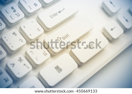 A keyboard of a computer  (English - Thai language),closed up