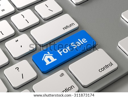 A keyboard with a blue button-For Sale