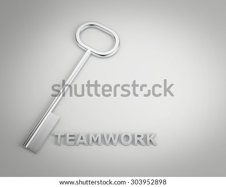 "a keys with words ""teamwork"", business concept - stock photo"