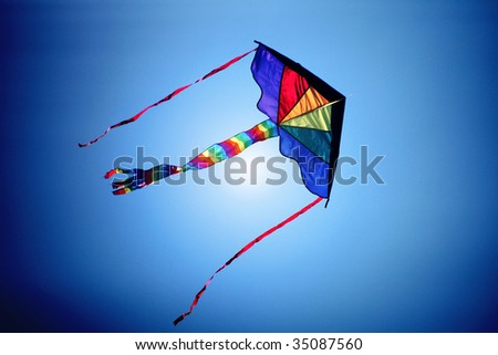 a kite fly in the sky - stock photo