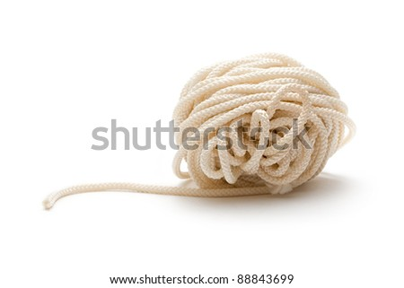 A knot of rope on the white background