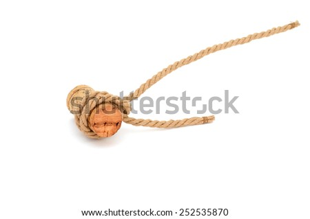 A knot rope on white  - stock photo