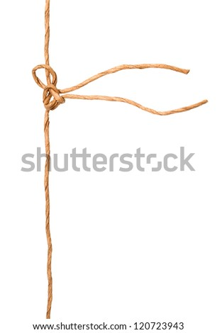 A knot wrapping rope