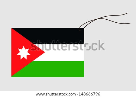 label string flag jordan stock illustration 148666796 shutterstock