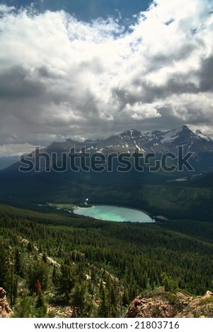 A lake in the forest - stock photo