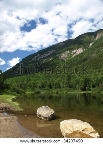 A lake in the White Mountains of New Hampshire - stock photo