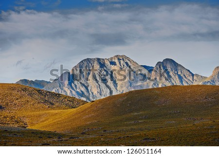 A Landscape photo - Western Cape, South Africa - stock photo