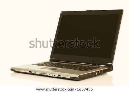 a laptop - stock photo