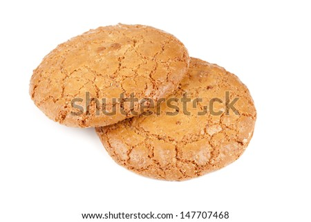 A large almond cookies. Crisp and crunchy cookies