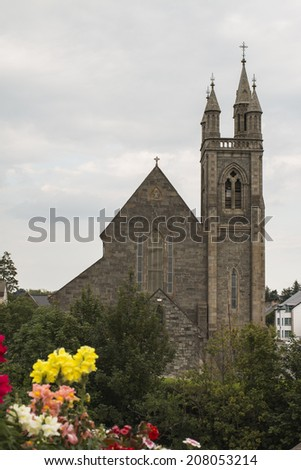 a large church in Donegal Ireland - stock photo