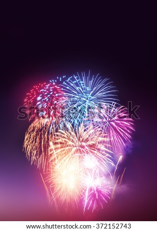 A large fireworks event and celebrations.