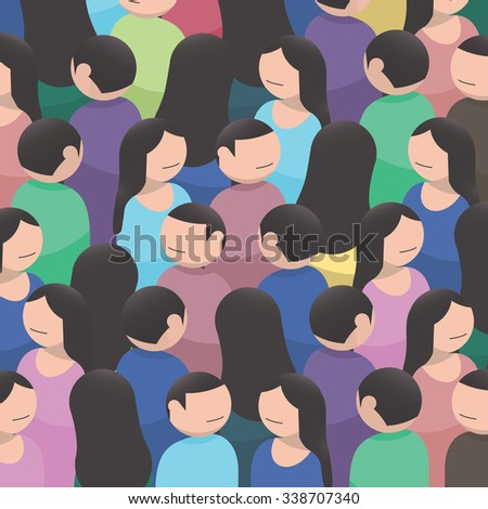 A large group of people. Illustration or background - stock photo