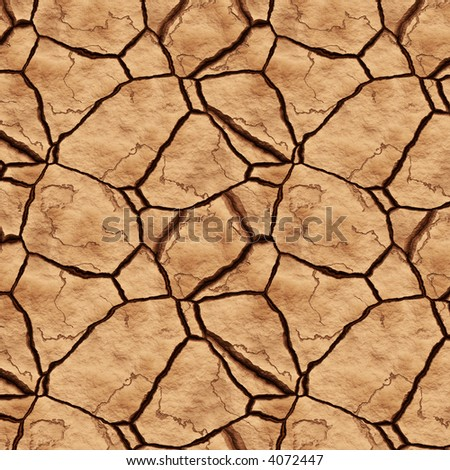 a large image of hot and dry cracked river or lake bed