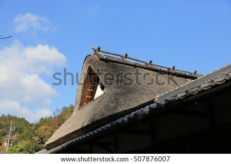 a large of JAPANESE STYLE  ROOF asia