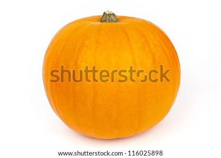 A large Pumpkin on a white background. - stock photo
