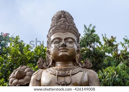 A large statue of Maitreya, the future Buddha, at Kelaniya temple, Sri Lanka  - stock photo