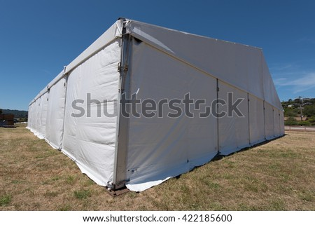 A large white tent in a grass field for parties and entertaining & Large White Tent Grass Field Parties Stock Photo 422185603 ...
