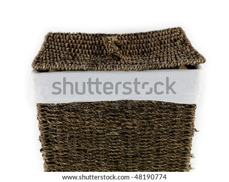 A laundry basket isolated against a white background