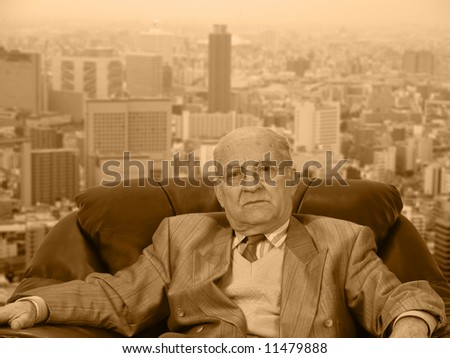 A leader at his workplace. - stock photo