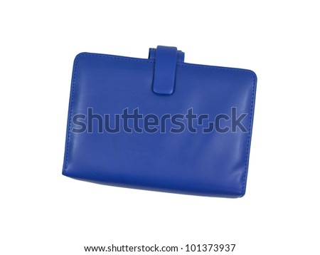 A leather binder isolated against a white background