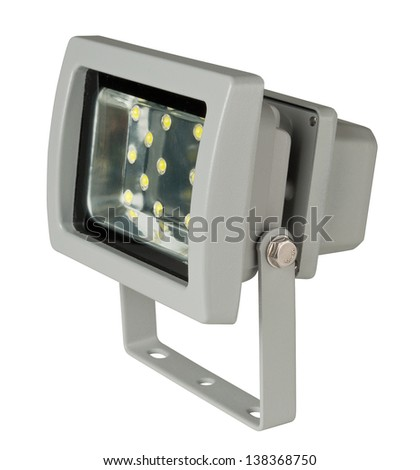 A LED spotlight isolated on white background.
