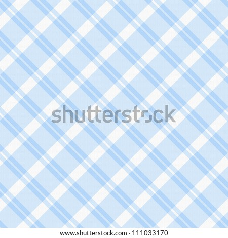 A light blue plaid fabric  background that is seamless - stock photo