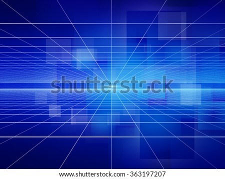 A light filled blue abstract background with a fine grid overlay