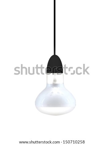 A light globe isolated against a white background - stock photo