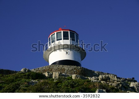 a lighthouse near the cape of good hope in South Africa