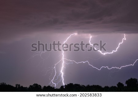 A lightning storm in eastern Austria.